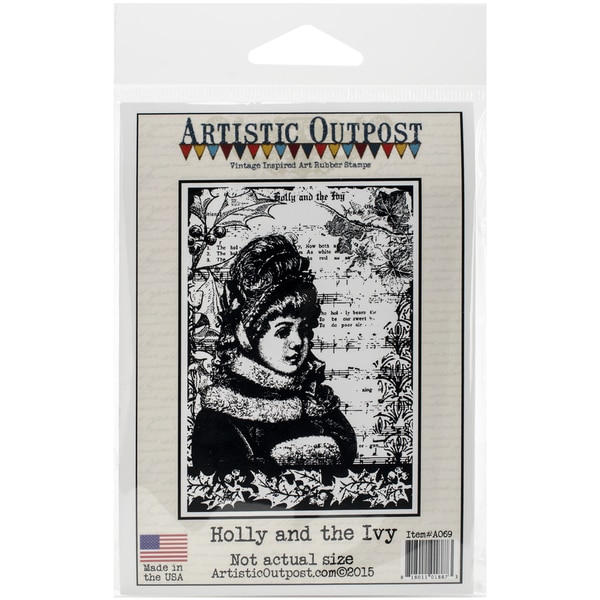 "Artistic Outpost Cling Stamps 3.75""X6""-Holly And The Ivy"
