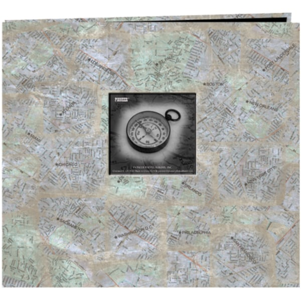"Travel Post Bound Album 12""X12""-City Maps"
