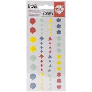 Cakes & Candles Enamel Stickers-Shapes