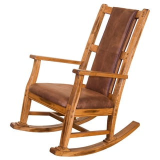 Sunny Designs Sedona Oak Hardwood T-Cushion Seat and Back Rocker
