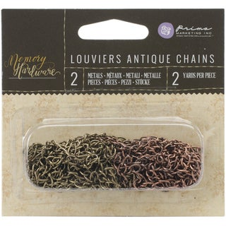 Memory Hardware Embellishments-Louviers Antique Metal Chains, 2yd 2/Pkg