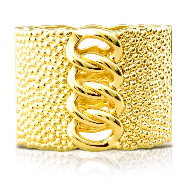 Passiana Chunky Chain Gold Cuff