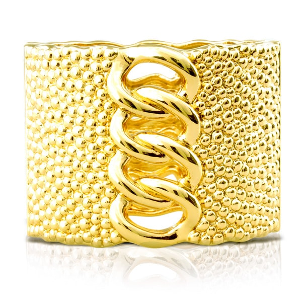 Passiana Chunky Chain Gold Cuff