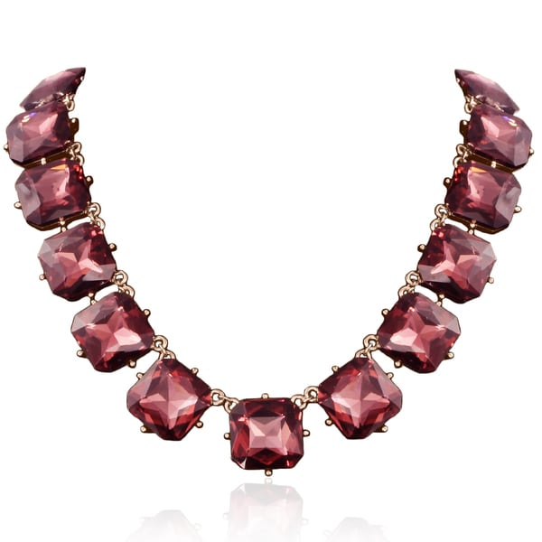Passiana Pink Crystal Radiant Strand Necklace