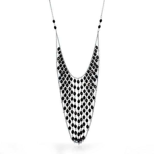 Passiana Beaded Chain Bib Necklace