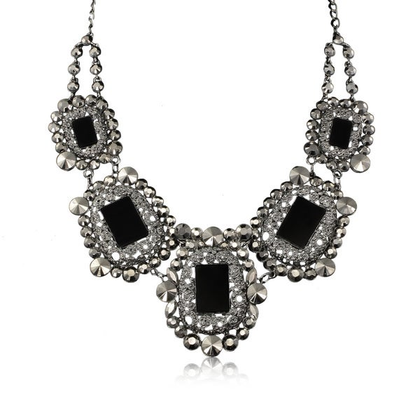 Passiana Black Crystal Rockstar Necklace