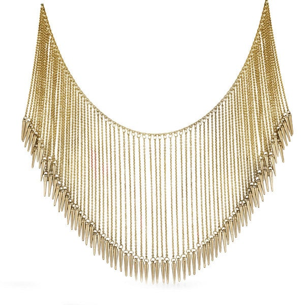 Passiana Gold Gladiator Spike Necklace