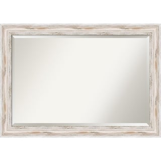'Alexandria Whitewash Extra Large 41 x 29-inch Wall Mirror