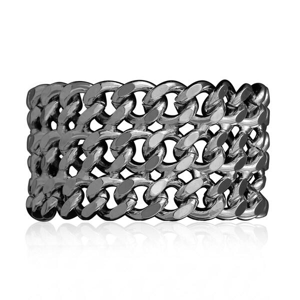 Passiana Gunmetal Chain Bracelet