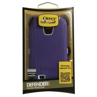 Brand NEW OtterBox Defender Series Case for Samsung Galaxy S4 Purple/Light Blue w/ Holster & Built-In Screen Protector
