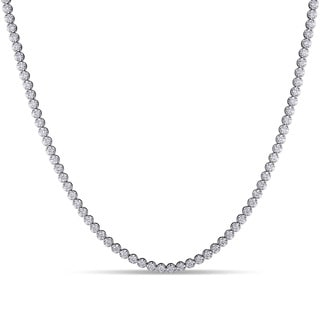 Miadora 18k White Gold 13 1/6ct TDW Diamond Necklace (G-H, SI1-SI2)