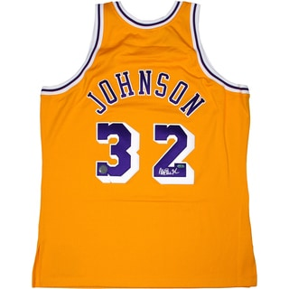 Magic Johnson Home Yellow Lakers Replica Jersey