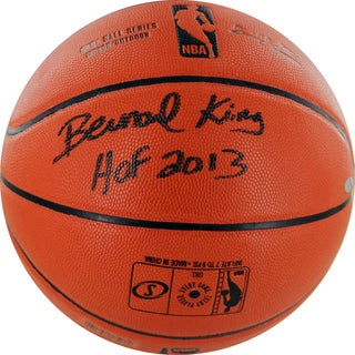 Bernard King Signed I/O Basketball w/ HOF insc