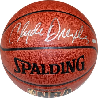 Clyde Drexler Signed NBA Zi/O Basketball