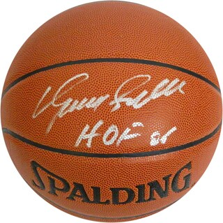 """Dominique Wilkins Signed Basketball w/ """"HOF 06"""" Insc."""