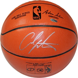 Carmelo Anthony Signed I/O NBA Orange Basketball (Signed in Silver)