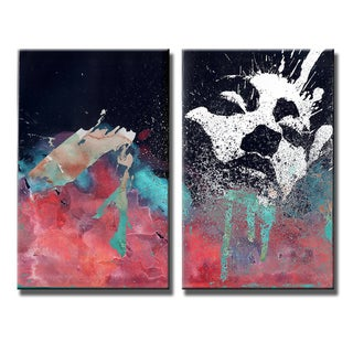 Inkd XXII' 2-Piece Wrapped Canvas Wall Art Set