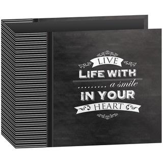 """Pioneer 3-Ring Binder Chalkboard Album 12""""X12""""-Smile"""