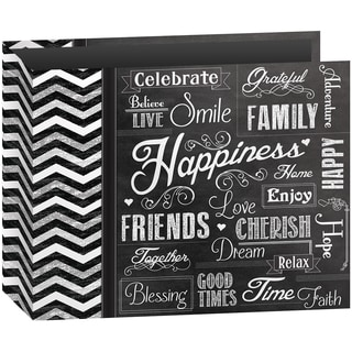 "3-Ring Binder Chalkboard Album 12""X12""-Happiness"