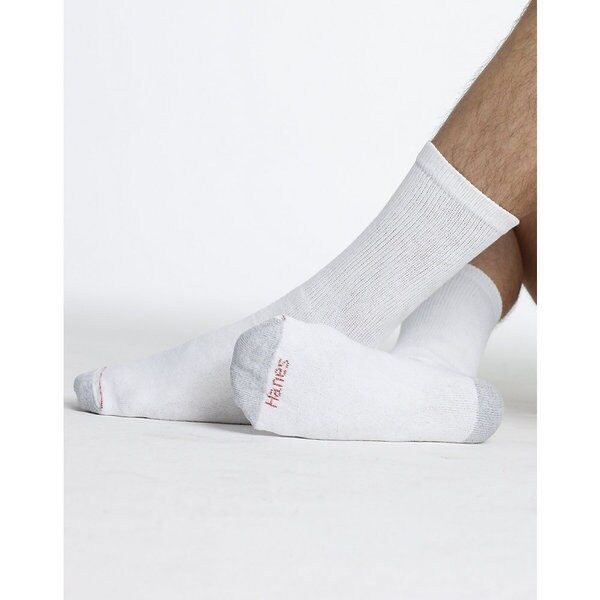 Hanes Men's Big & Tall Crew Socks, 12-Pack