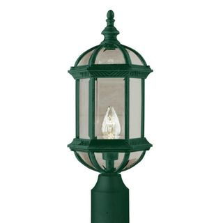 Cambridge Verde Green Finish Outdoor Post Head with Beveled Shade