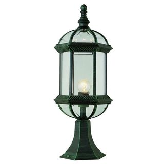 Cambridge Verde Green 1-light Outdoor Post Head with Beveled Shade