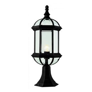 Cambridge Black Finish Outdoor 1-light Post Head with Beveled Shade