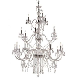Cambridge 21-light Polished Chrome 42-inch Chandelier