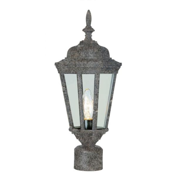 Cambridge Swedish Iron Finish Outdoor Post Head with Clear Shade
