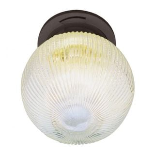 Cambridge 1-light Rubbed Oil Bronze Finish Flush Mount with Frosted Shade