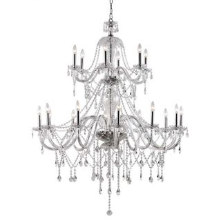 Cambridge 18-light Polished Chrome 45.75-inch Chandelier