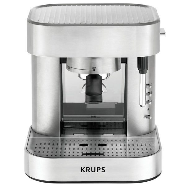 Krups XP602550 Stainless Steel Definitive Series Automatic Pump Espresso Maker (Refurbished ...