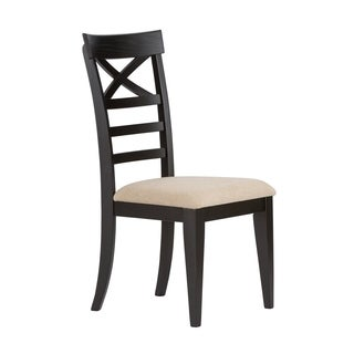 Hearthstone Traditional Rustic Black X-Back Side Chair