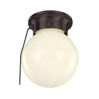 Cambridge 1-light Rubbed Oil Bronze Finish Flush Mount with Opal Shade