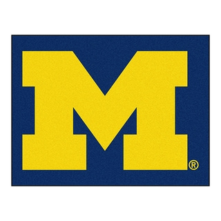 Fanmats Machine-Made University of Michigan Blue Nylon Allstar Rug (2'8 x 3'8)