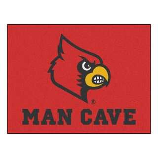 Fanmats University of Louisville Red Nylon Man Cave Allstar Rug (2'8 x 3'8)