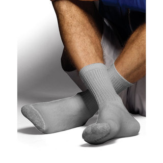 Hanes Classics Men's ComfortSoft Crew Socks Grey 6-Pack