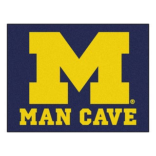 Fanmats University of Michigan Blue Nylon Man Cave Allstar Rug (2'8 x 3'8)