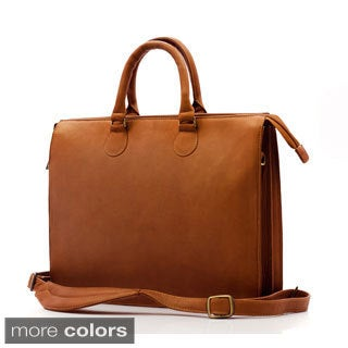Muiska Monica Slim Vaquetta Leather Laptop Briefcase