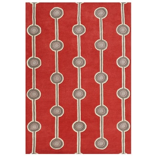 Alliyah Hand-made Fiery Red New Zealand Blend Wool Rug (5'x8')