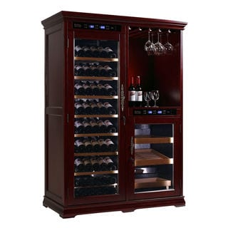Royal Cave 450CF 160-bottle Constant Temperature Wine Cellar Cabinet and Rack and Cigar Humidor