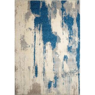 Alberto Abstract Blue Rug (7'9 x 9'8)