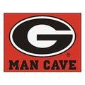 Fanmats University of Georgia Red Nylon Man Cave Allstar Rug (2'8 x 3'8)