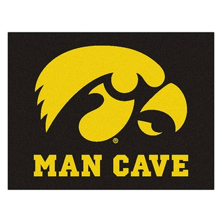 Fanmats University of Iowa Black Nylon Man Cave Allstar Rug (2'8 x 3'8)