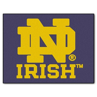 Fanmats Machine-Made Notre Dame Blue Nylon Allstar Rug (2'8 x 3'8)