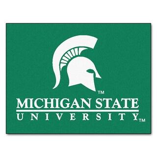 Fanmats Machine-Made Michigan State University Green Nylon Allstar Rug (2'8 x 3'8)