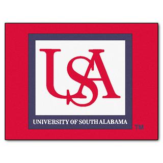 Fanmats Machine-Made University of South Alabama Red Nylon Allstar Rug (2'8 x 3'8)