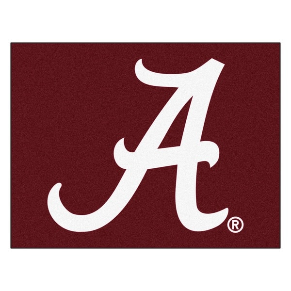 Fanmats University of Alabama Red Nylon Allstar Rug (2'8 x 3'8)