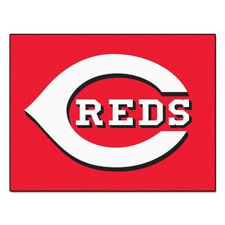 Fanmats Machine-Made Cincinnati Reds Red Nylon Allstar Rug (2'8 x 3'8)