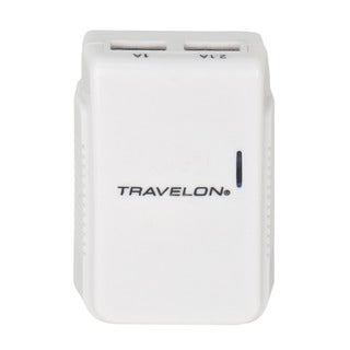 Travelon Universal Dual USB Charger with Adapter Plugs